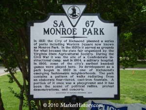 Monroe Park sign